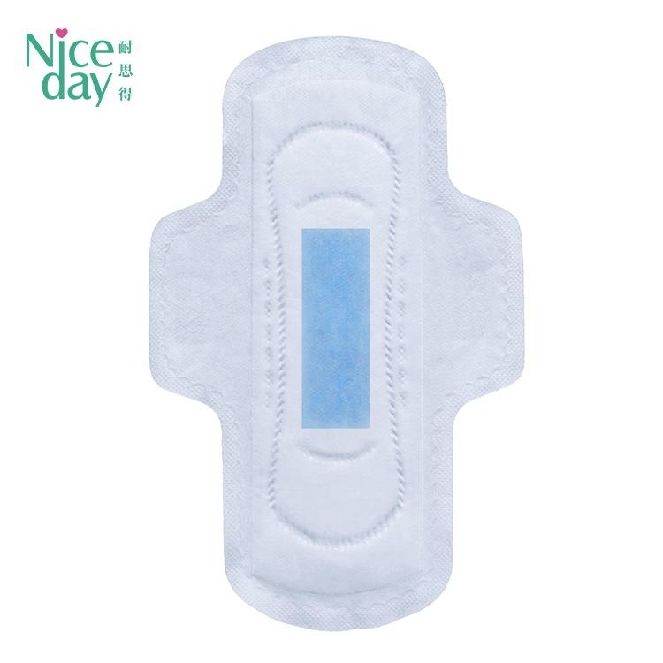 blue color comfort day use winged ultra thin disposable bio sanitary pads price