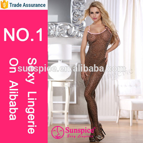 Fashion girl sexy lingerie image copyright sheer nylon bodystocking