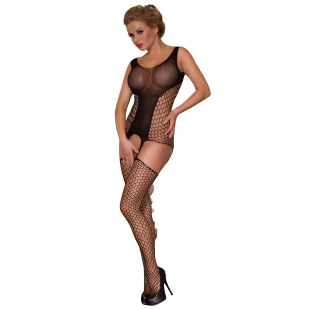 Fishnet body stocking sexy open crotch bodystocking