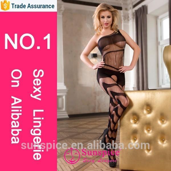 Elastic bodystocking EU size for fat woman sheer nylon bodystocking