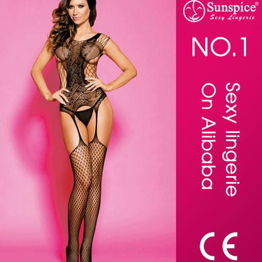 Wholesale Hot Women Sexy Black Mature Bodystocking