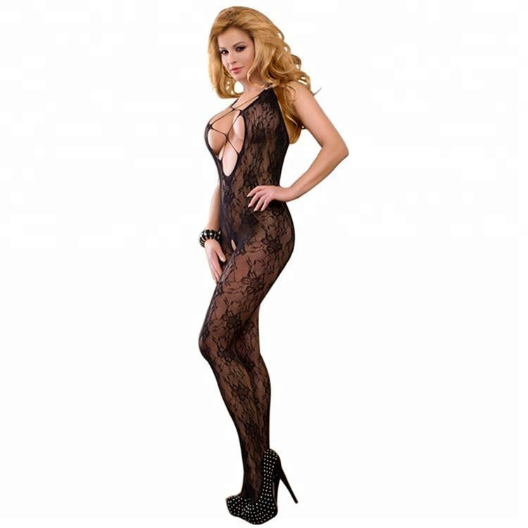 2018 new design sexy full adult mature net lace transparent sheer bodystocking tube pantyhose women sex body stocking lingerie