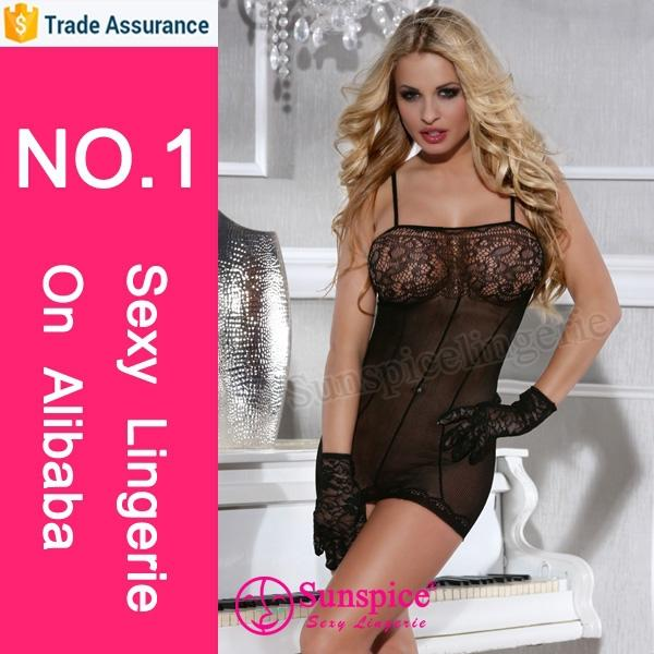 Sexy mature women night wear bodysuit japanese dress pantyhose