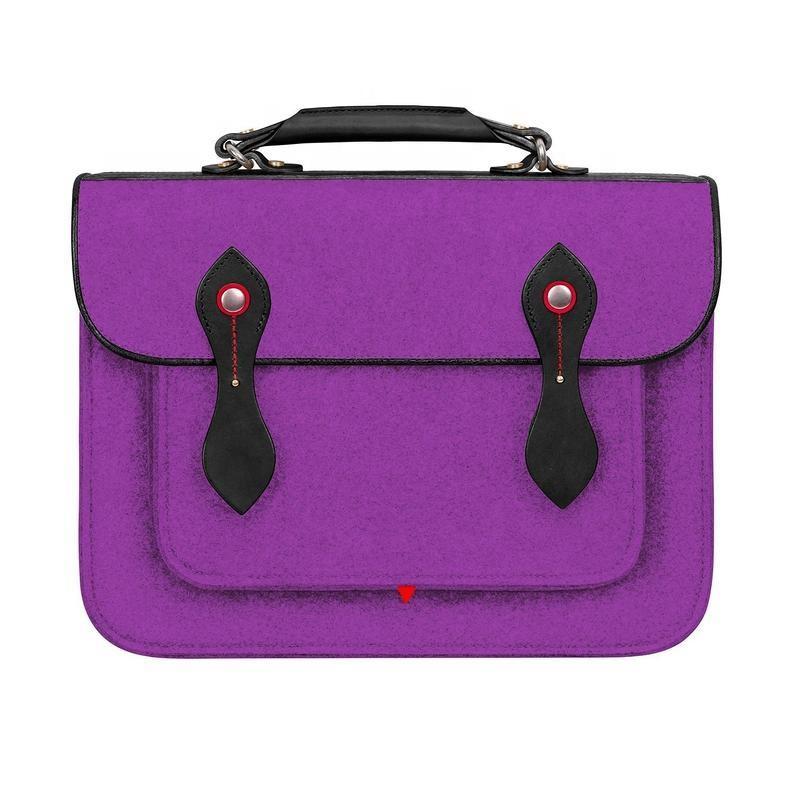 Color Customize British school unisex shoulder bags for men Felt business travel fashion women laptop briefcase bags satchel