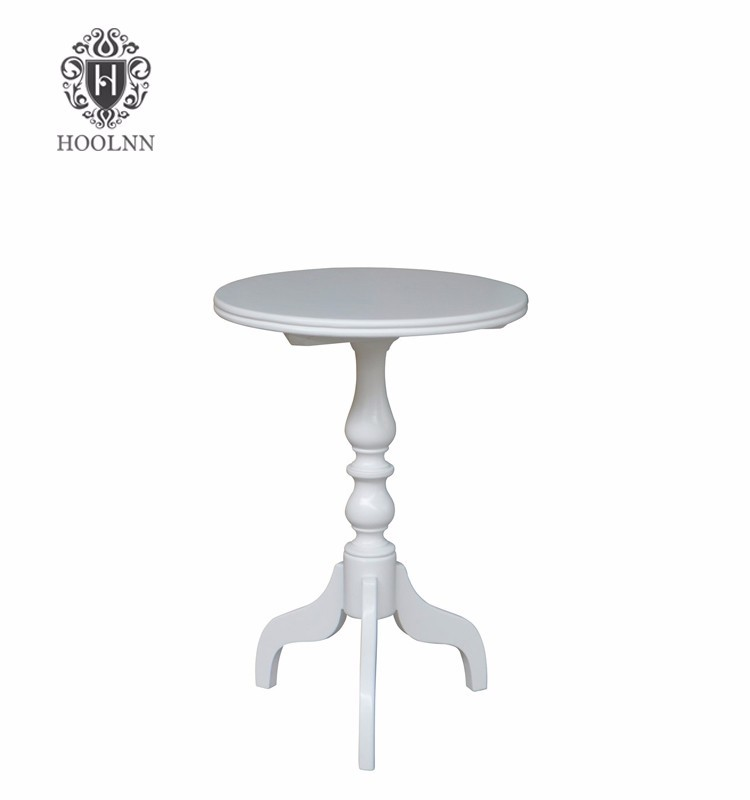 Cherry French Provincial Style Round Wooden Side Table HL085