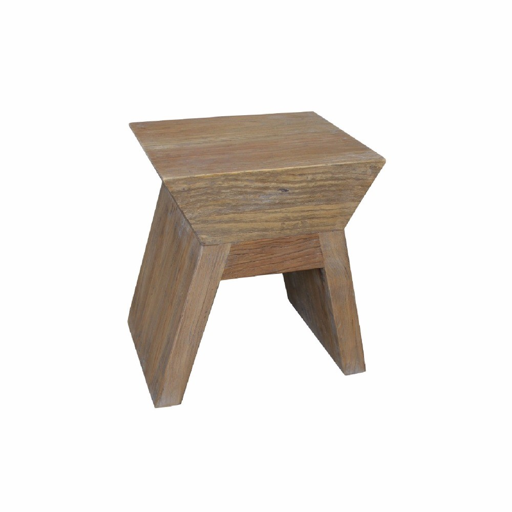 French Provincial Antique Reclaimed Elm Side Table Furniture HL086