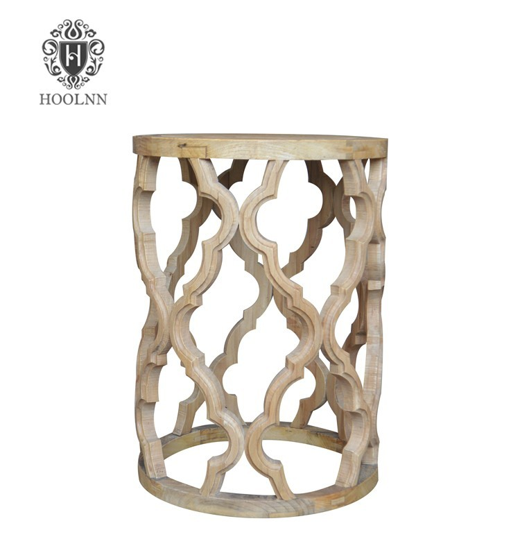 French Country Style Handcrafted Recycled Elm Side Table HL232