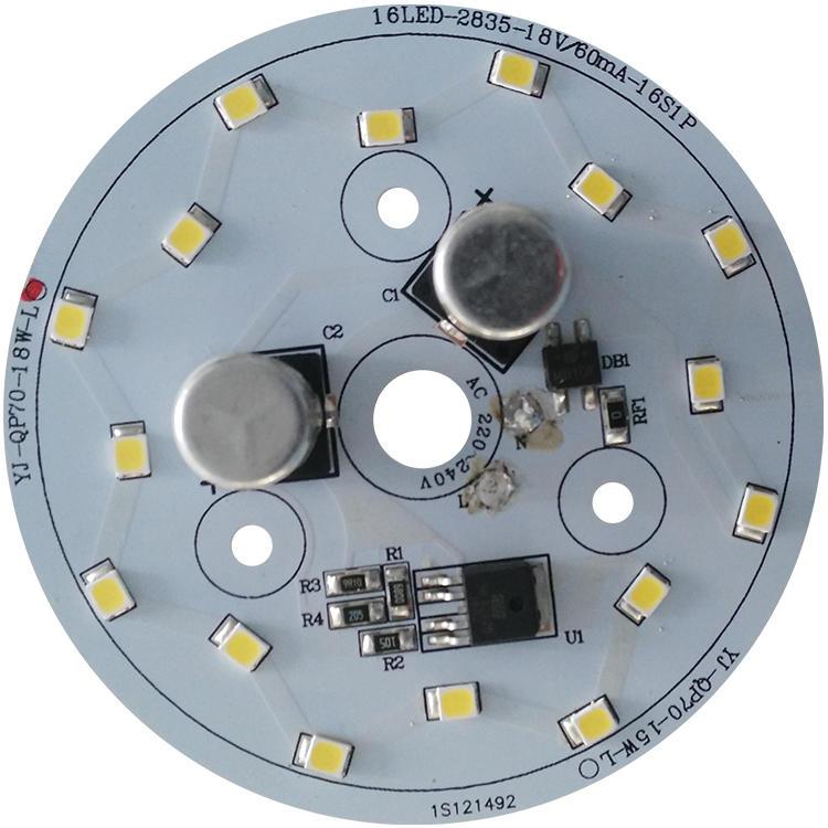 No flickering 18W 58mm Diameter 100 lm/W white aluminum base pcb 220v ac light smd led module for LED Bulb Light