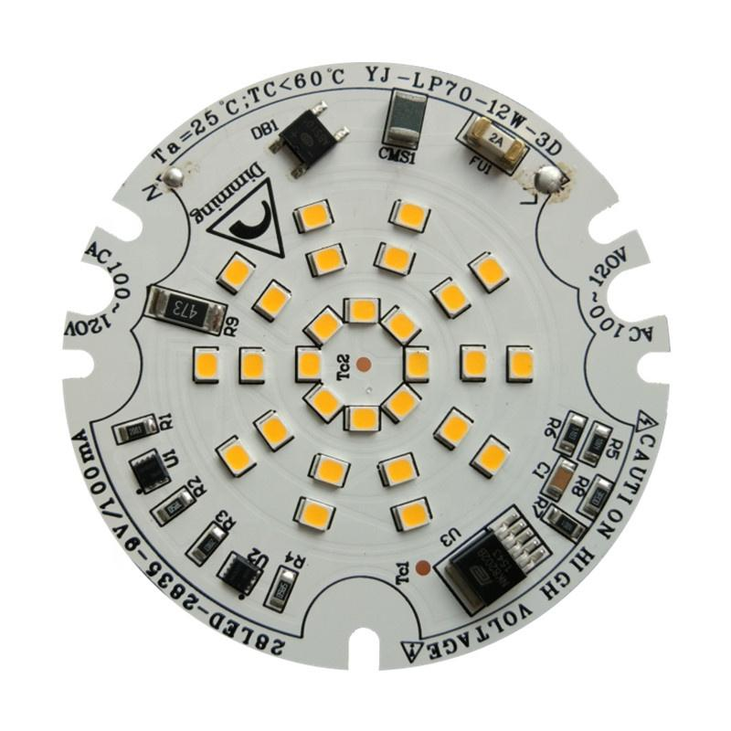 CE RoHs Certification High PF>0.98 12W AC 120V SCR Dimming DOB Driverless LED Module for LED Downlight and Bulblight