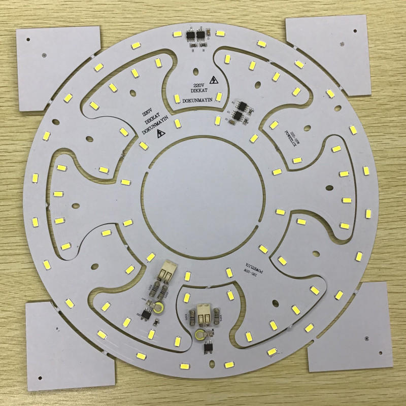 2-in-1 Design 18W/18W 220V AC smd 5730 driverless dob led board for ceiling light and panel light