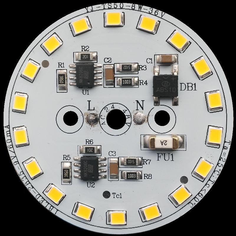 CE LVD FCC PSE C-Tick certificate 8W Low Voltage AC 36V /24V /12V AC driverless dob led pcb board for Bulb light and Downlight