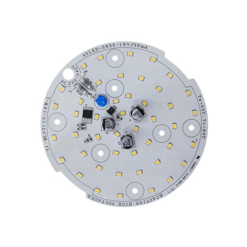 130lm/W 16W 3years warrantyCE RoHS Certification 220V ac input voltage round led module pcb pcba for LED Ceiling light
