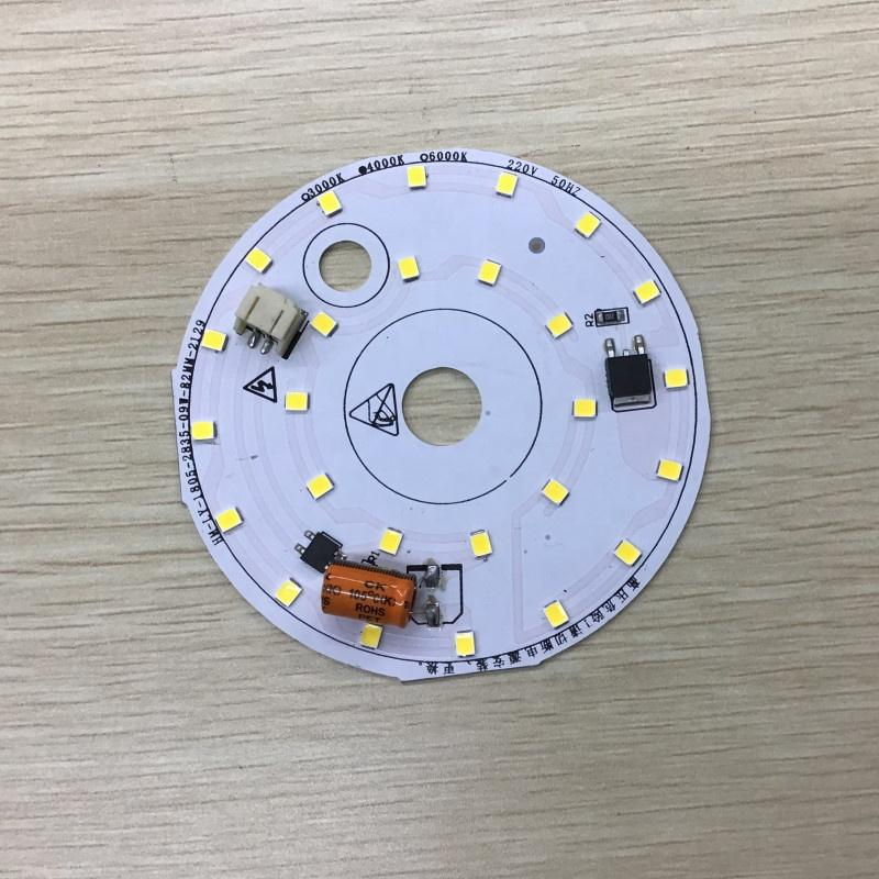 Bespoke Replaceable 10W 82mm Diameter 90lm/W 4000K smd 2835 220v ac driverless dob led module for bulb light and downlight