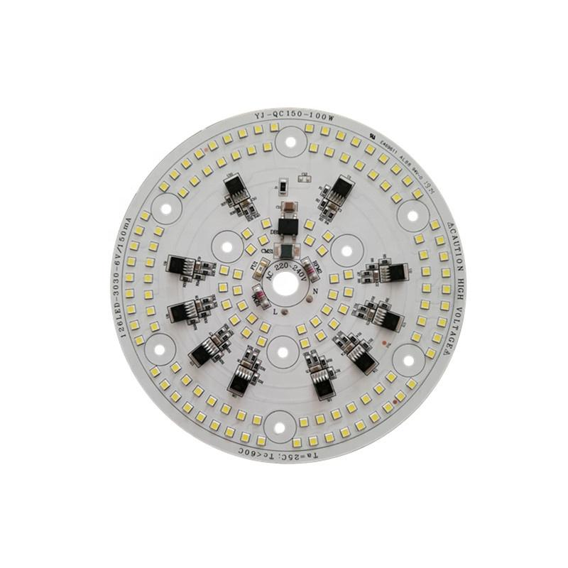 100W 3years warranty 110lm/W CE RoHS Certification High Power 220V ac input voltage round led module pcb pcba for LED Mine light