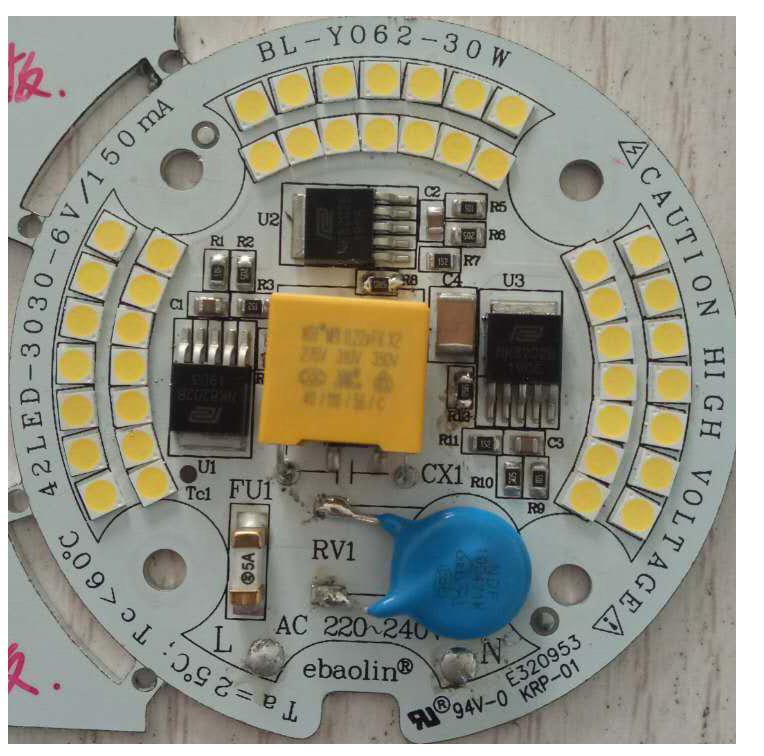30W119lm/W Ra80 CE RoHS Certification220V ac input pcb pcbaled module for LED Bulblight