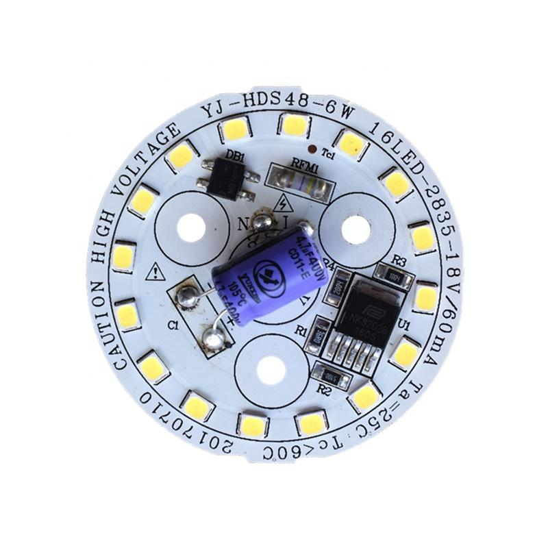 130lm/W High quality 6WRa80 CE RoHS certification 220V ac pcb input led module for LED Bulblight