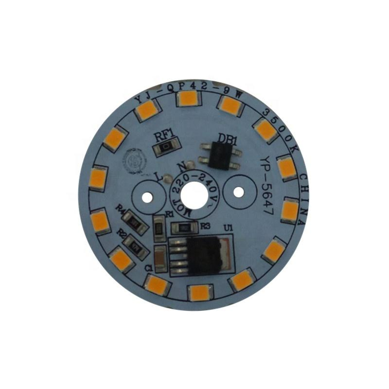 3years warrantyCE RoHS Certification High Power 9W 220V ac input voltage round led module pcb pcba for LED Downlight