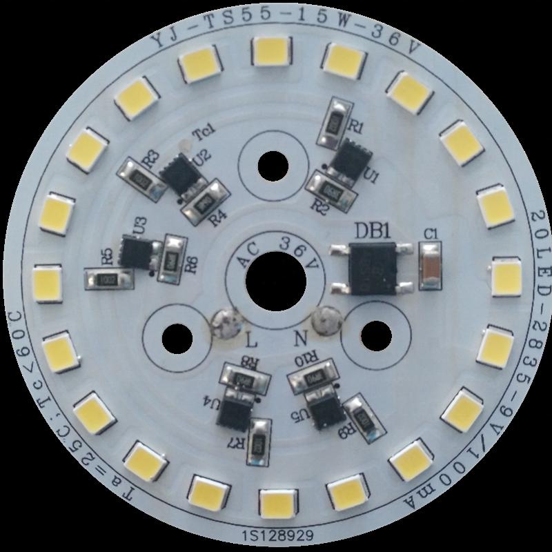 CE LVD FCC PSE C-Tick approved 15W Low Voltage AC 36V /24V /12V AC driverless dob led pcb Module for Bulb light and Downlight