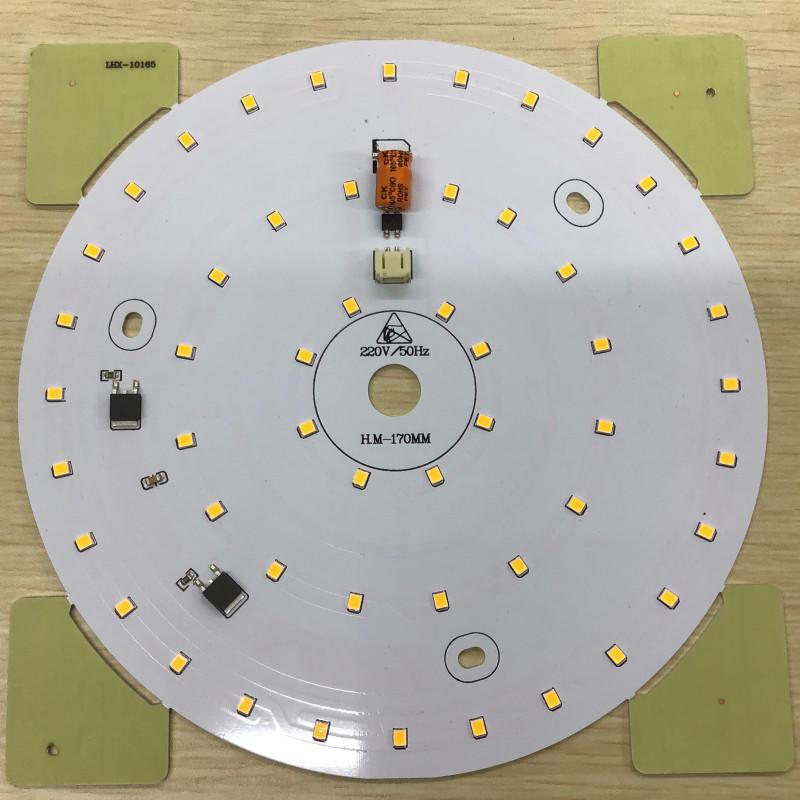 220V AC driverless 18W 170mm Diameter 90lm/W smd 2835 dob led light engine for ceiling light and panel light
