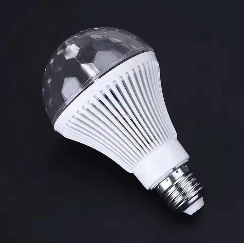 LedBall light Magical Music Smart Bulb2.5W B22 full color rotating lamp on stage
