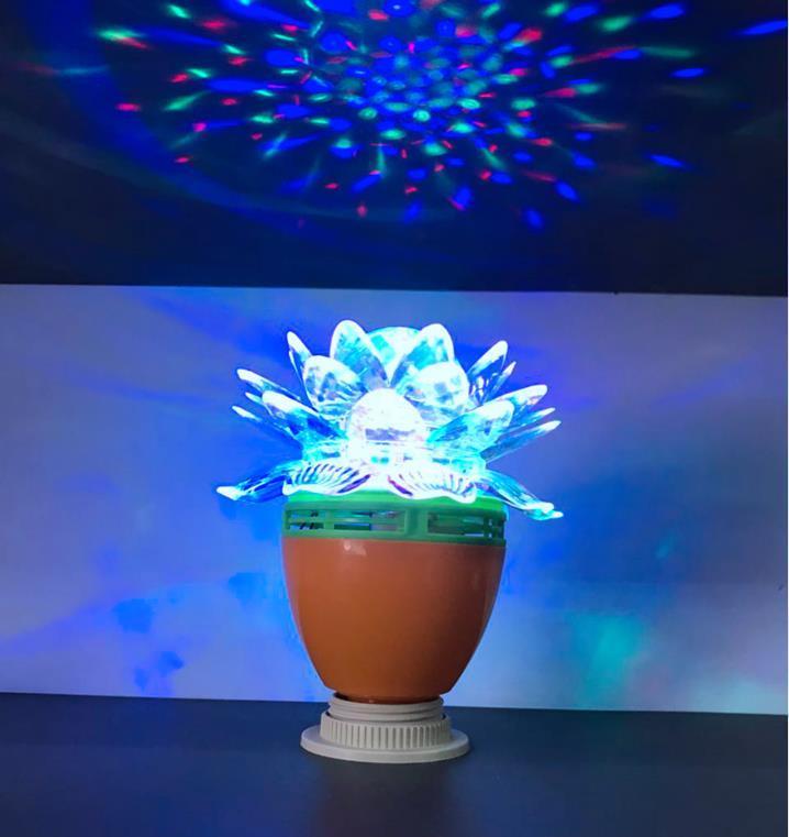 LedBall light Magical Music Smart Bulb2.5W B22 full color rotating lamp on stage