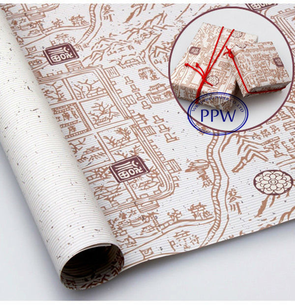 Ancient map design wrapping paper color writing paper
