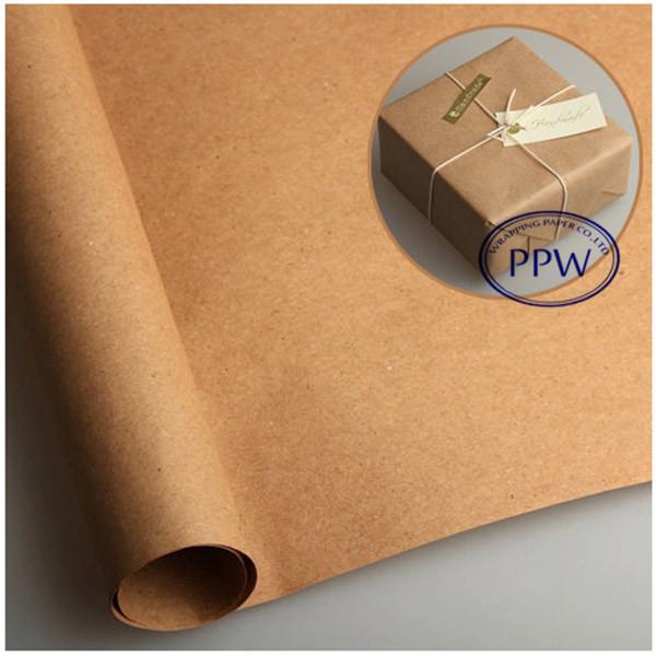 Original Paper 80g brown Kraft paper large rolls packing