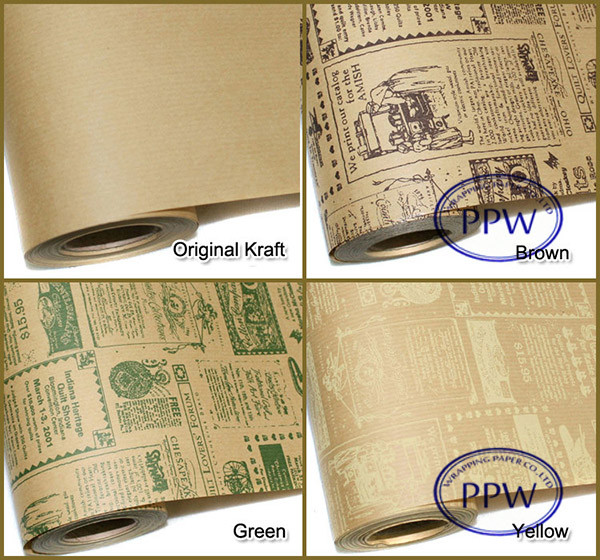 Custom gift wrapping paper newspaper printing paper