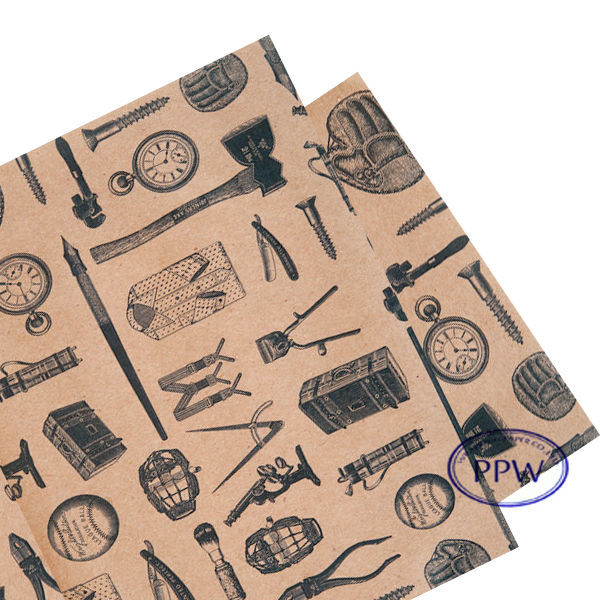 Old Classic paper Manly tool design wrapping paper