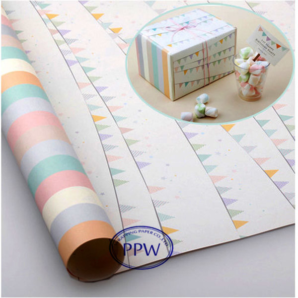 Chocolate wrapping paper Double side printing art paper