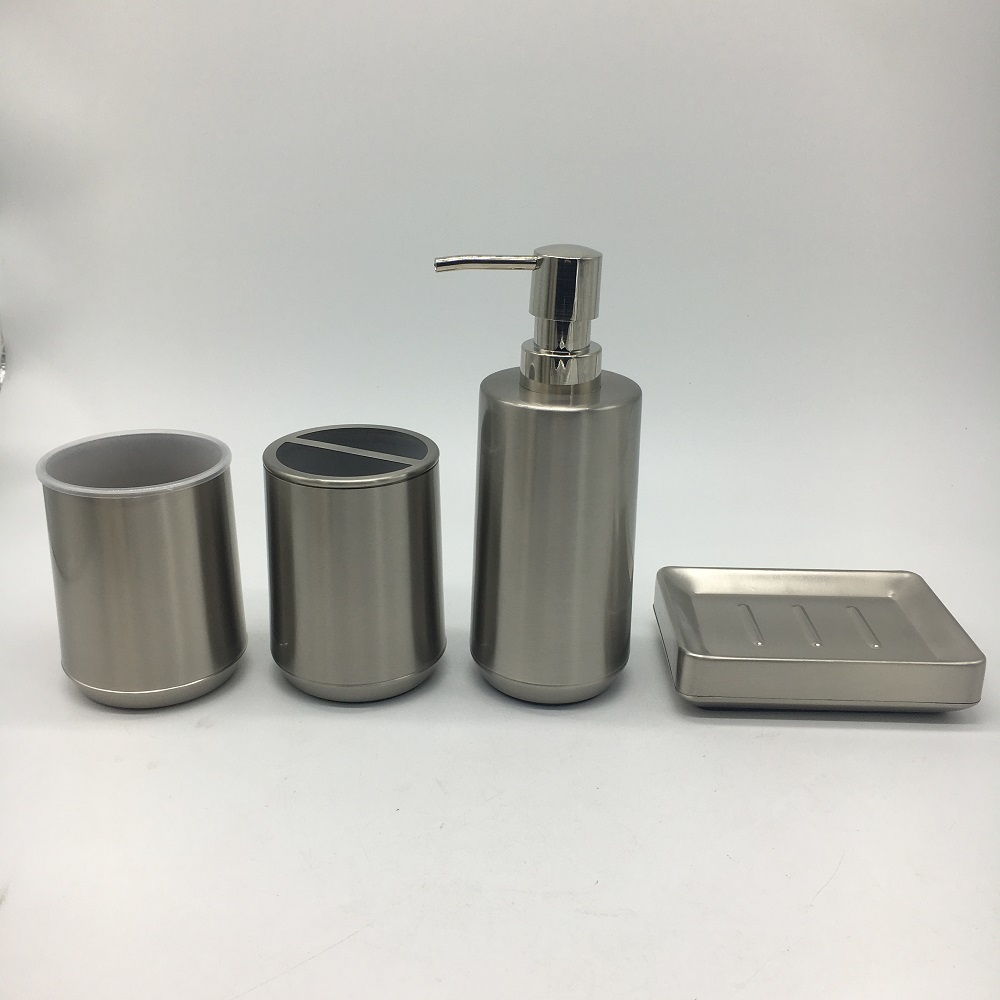 Cheap Complete 5pcs Silver Nickel Metal Bathroom For Hotell Bath Accessories Set