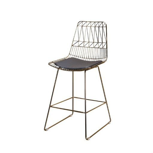 Gold color wire bar stool