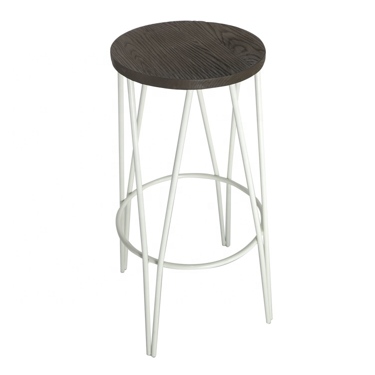 Professional factory supply multi colors metal modern bar chair with low price