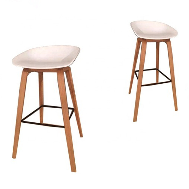 White plastic shell counter kitchen high bar stool chairs