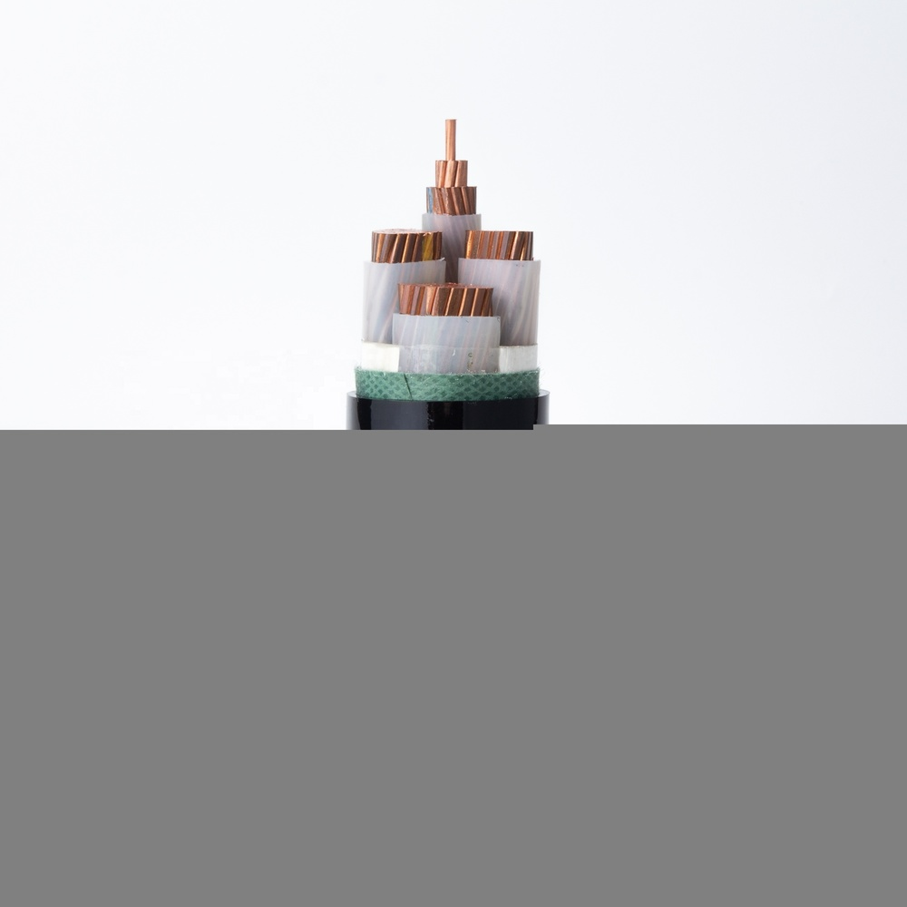 Power Cable YJV Copper Conductor XLPE Insulation PVC Sheath 3+1 cores