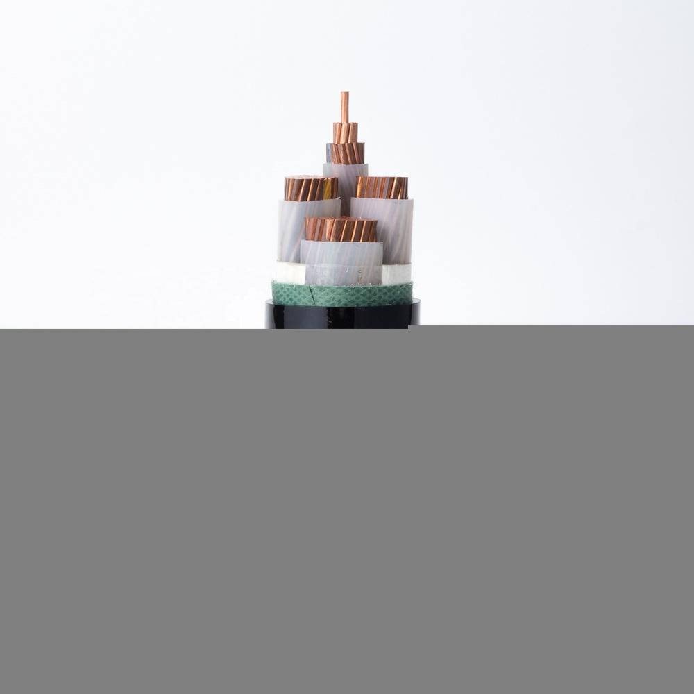 Power Cable YJV Copper Conductor XLPE Insulation PVC Sheath 3+1 cores