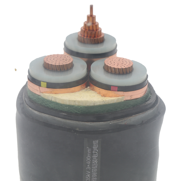 3 Phase 4 Wire 400mm 132kV XLPE Waterproof Power Cable Price