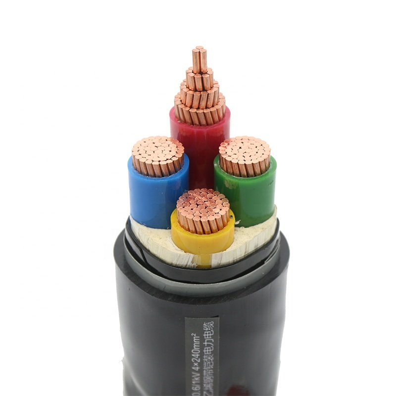 VV 0.6/1kv 4 cores power cable with best price 4c x 185mm2 cu pvc copper wire oem cable Guangdong