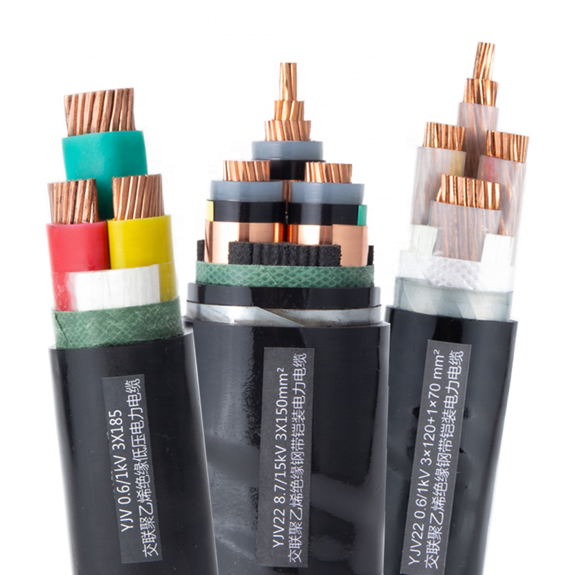 Power Cable YJV Copper Conductor XLPE Insulation PVC Sheath 3 cores 185mm