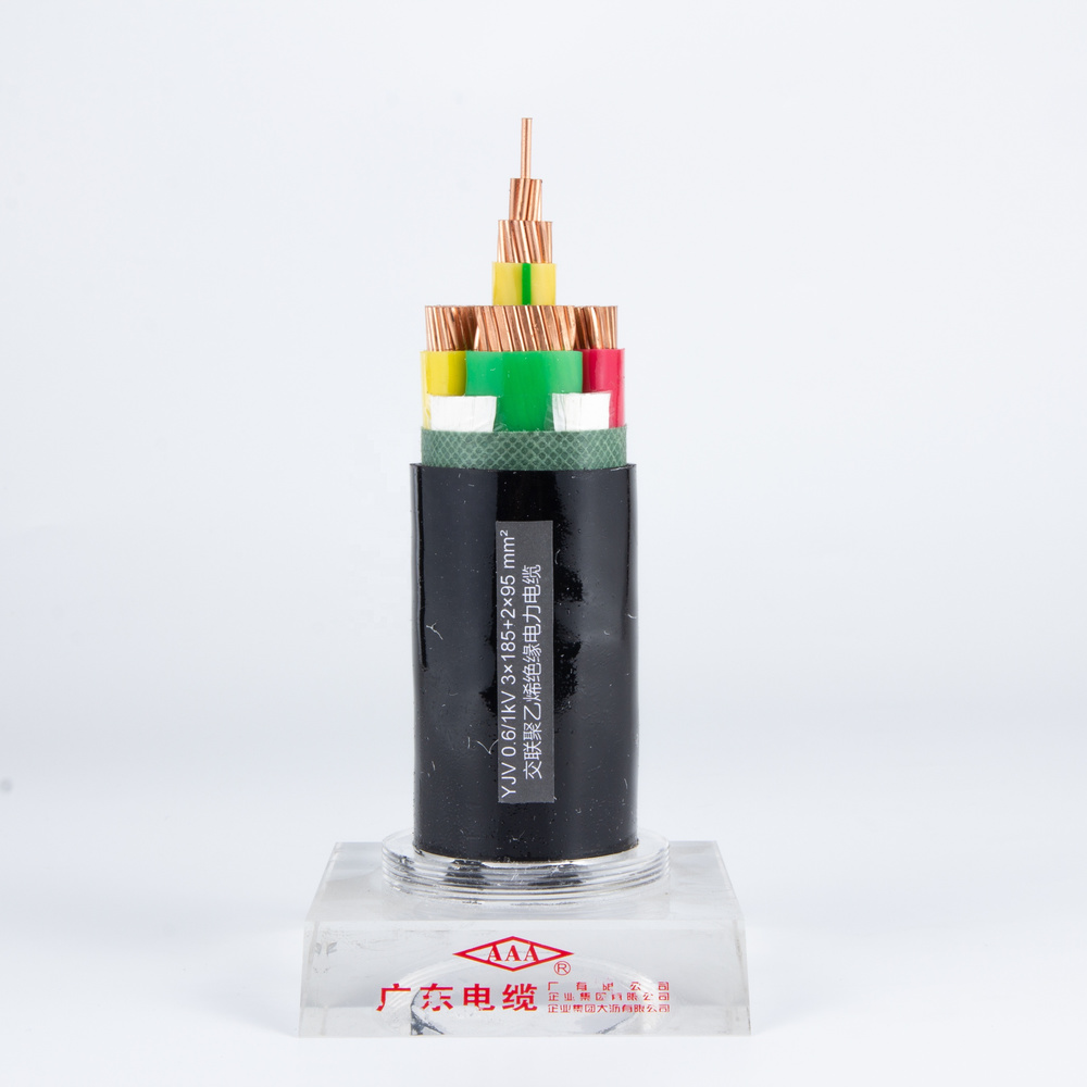 Power Cable YJV Copper Conductor XLPE Insulated PVC Sheathed 3*185+2*95