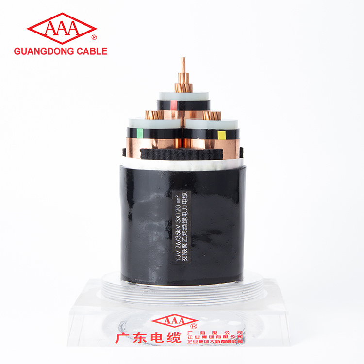 3 Core 3x120mm2 Copper Core Cross-linked Polyethylene Insulated PVC Sheathed PowerCable