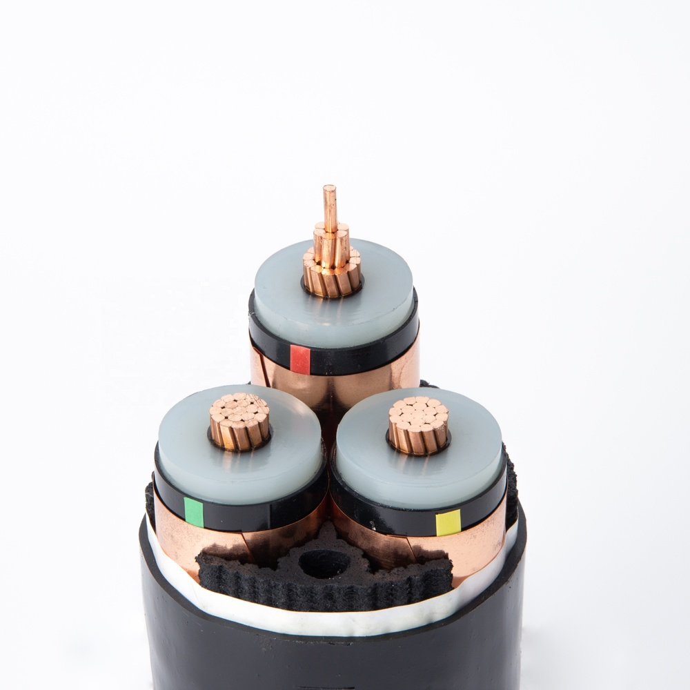 Power Cable YJV Copper Conductor XLPE Insulation PVC Sheath 3 cores 120mm