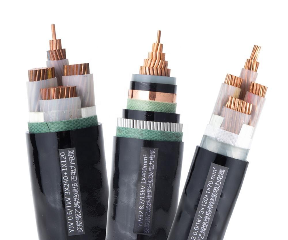 2020 Power Cable YJV Copper Conductor XLPE Insulation PVC Sheath single core 300mm