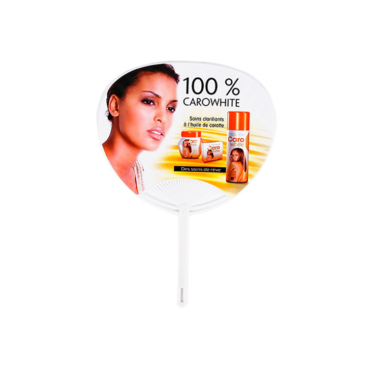 Custom Logo Advertising Promotional Type Plastic Hand Fan with Cheap Price