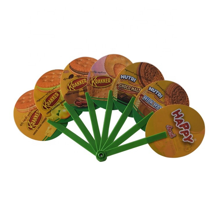 Customized Plastic Waterproof Portable Folding Hand Fan for Advertisement Promotional Gift