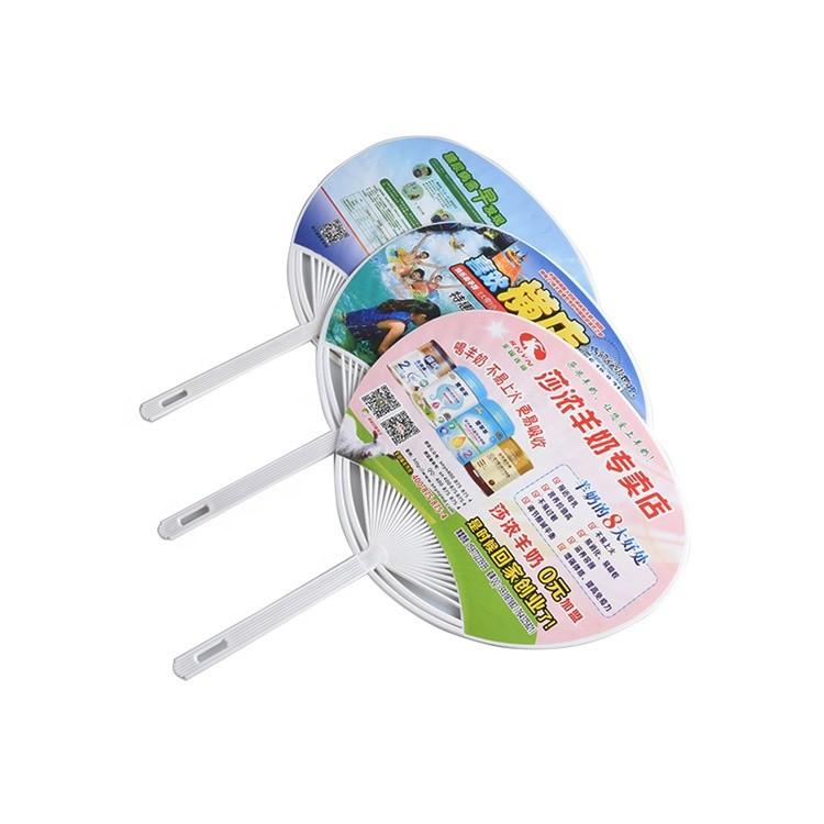Advertising Cartoon Plastic Fan Custom Chopsticks Fan Summer Gift Hand Fan