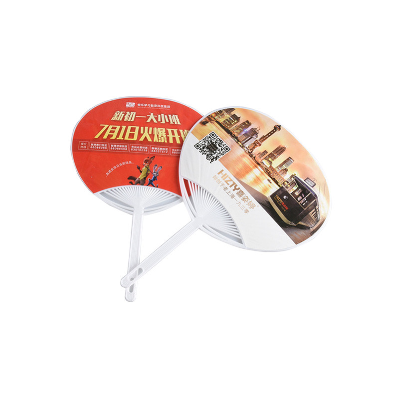 Hot Sale Customized Printing Plastic Advertising Pp Hand Fan