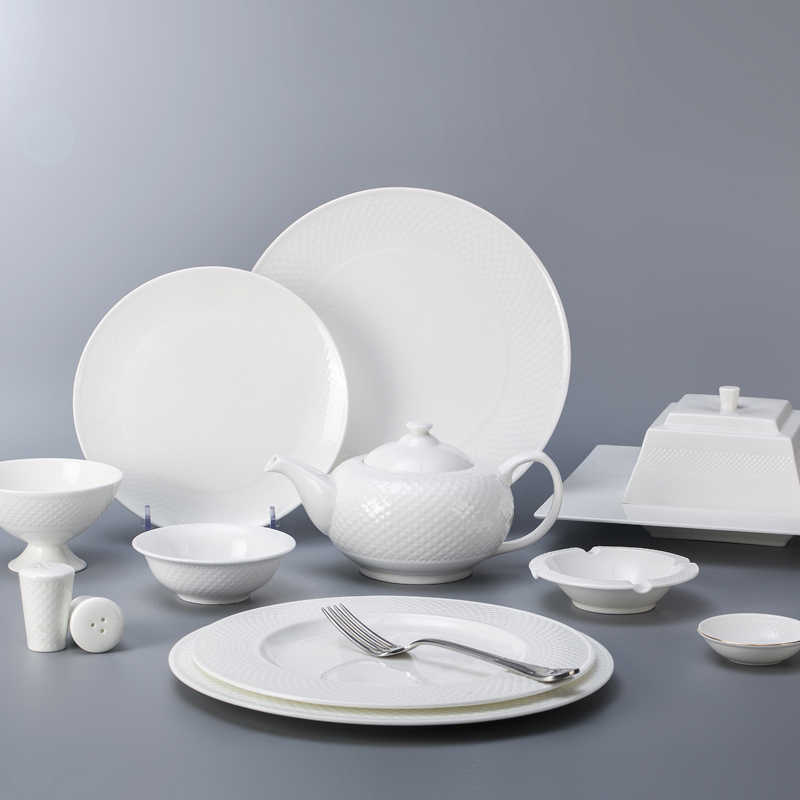 bone china crockery tableware dinner set for hoteles and restaurants