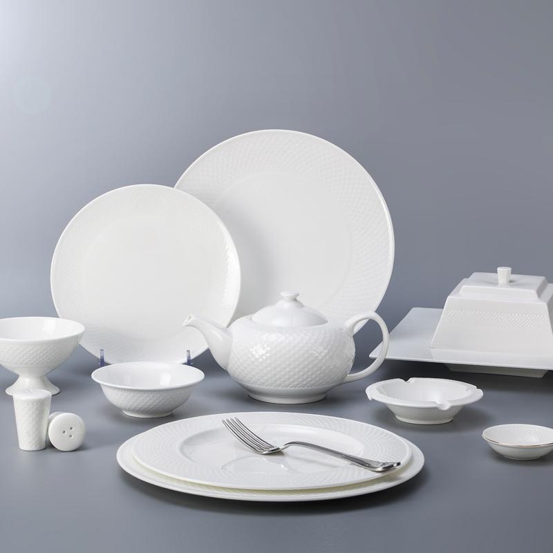 bone china crockery tableware dinner set for hoteles and restaurants