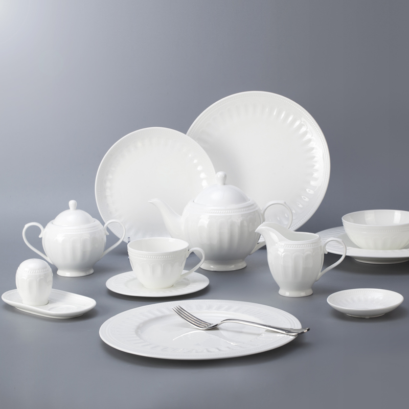 Western style five star hotel use bone china crockery tableware dinnerware set